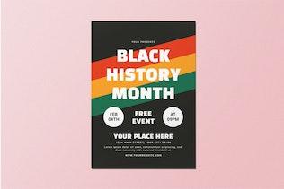 Black History Month Flyer Set
