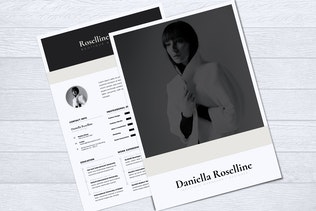 Thumbnail for Modern Minimalist CV Resume Vol. 05