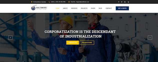 Baltimore : Factory PSD Template - product preview 3