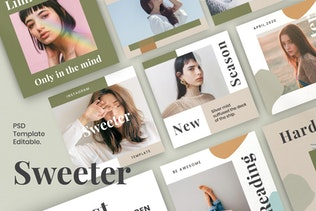 Sweeter Vol 1 - Instagram Story & Post Kit