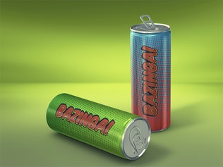 Thumbnail for Energy Drink Can Mockup vol.2