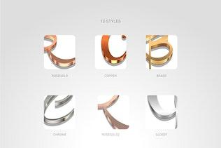 Thumbnail for Metallic Styles for Illustrator