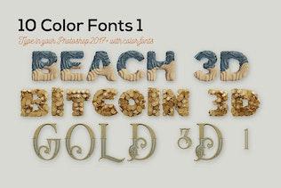 Thumbnail for 10 Color SVG Fonts 1
