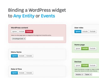 Thumbnail for Widget manager for WordPress
