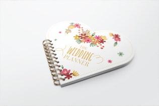Thumbnail for Heart Shape Notebook Mockups