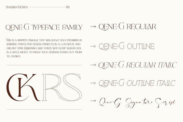 Qene-G - Serif & Signature Script Font Duo - product preview 12