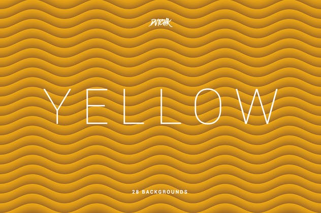Yellow | Soft Abstract Wavy Backgrounds - product preview 3