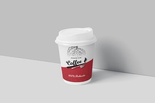 Premium Kaffeeverpackung & Tasse Etikett Design