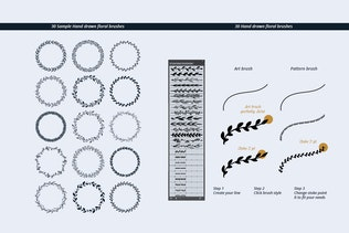 Thumbnail for Hand Drawn Floral Logo Kit