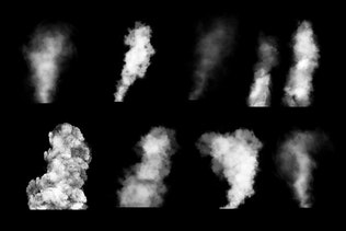 Thumbnail for 100 Cloudy Smoke Photoshop Stamp Brushes