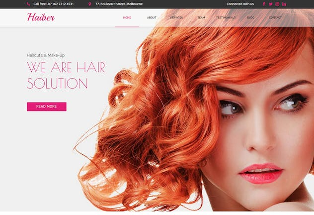 Haiber - Beauty & Make-up Muse Template YR - product preview 1