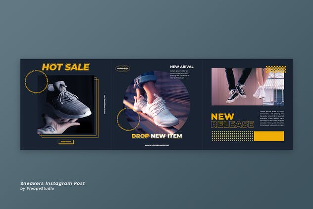 Sneakers Instagram Post Template - product preview 3