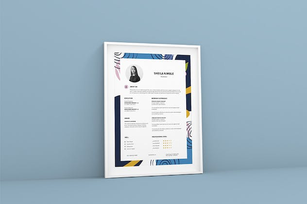 Creative Resume CV Design Template - product preview 2