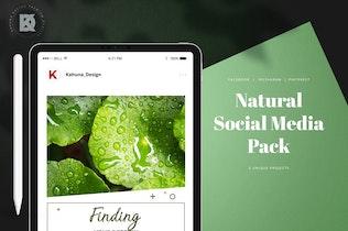 Thumbnail for Natural Green Social Media Pack