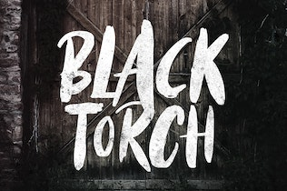 Thumbnail for Black Torch - Dry Brush Font