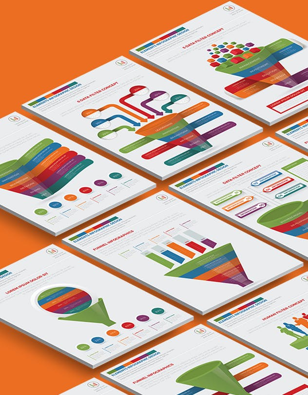 Filter Funnel Infographics Design - product preview 1