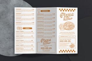Thumbnail for Food Menu Trifold Brochure