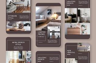 Thumbnail for Modeling Interior Instagram Stories Template