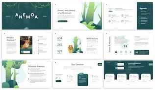 Thumbnail for Anemoa - Nature Keynote Template