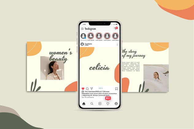 CELISIA - Fashion Instagram Post Template - product preview 1