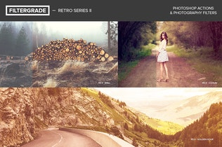 Thumbnail for FilterGrade Retro Series II Photoshop Actions
