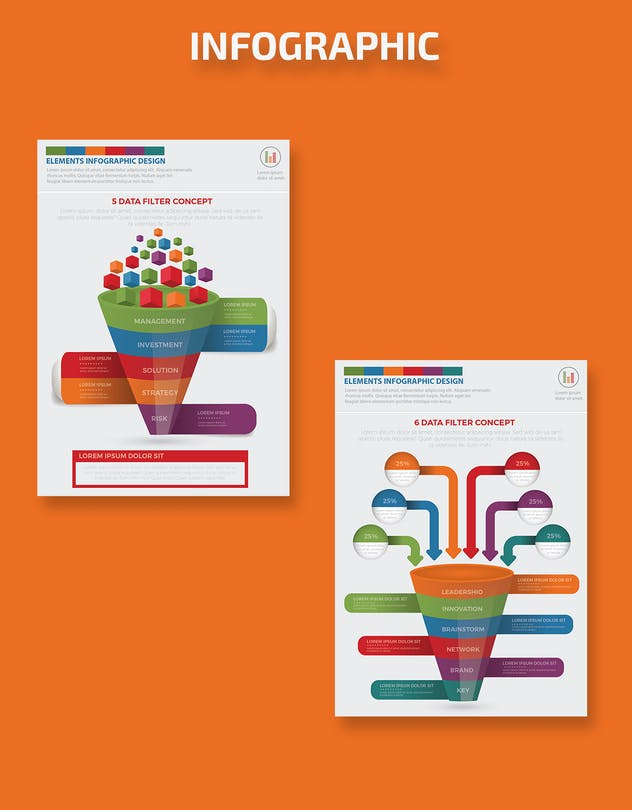Filter Funnel Infographics Design - product preview 3