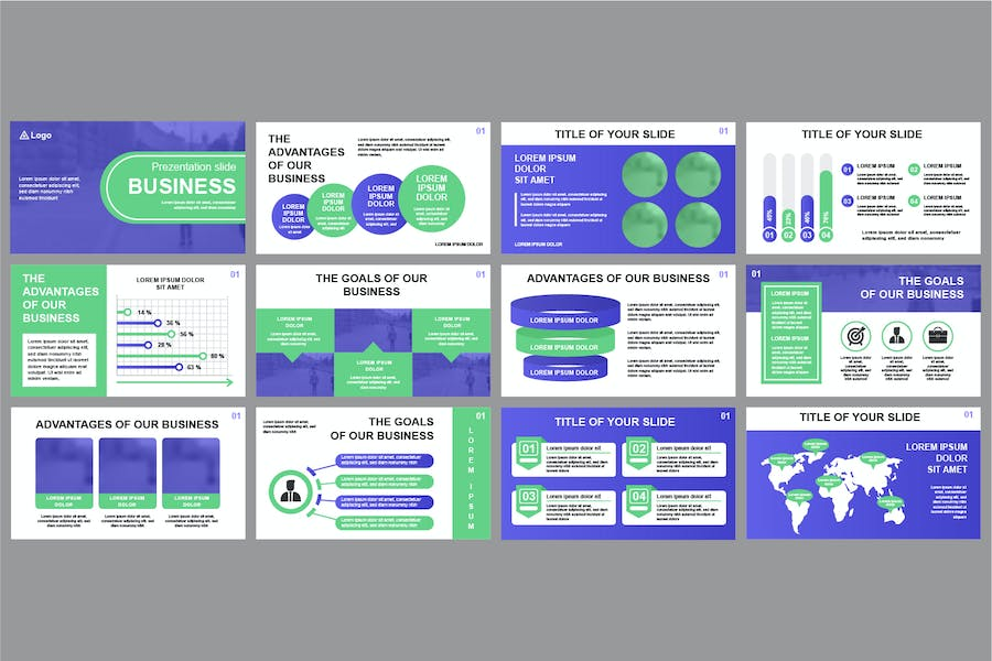 Business Powerpoint Slide Templates - product preview 1