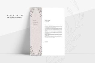 Thumbnail for FLORAL Resume/CV + Cover Letter