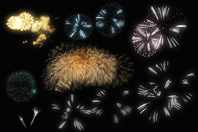 100 Firework Overlays - product preview 4