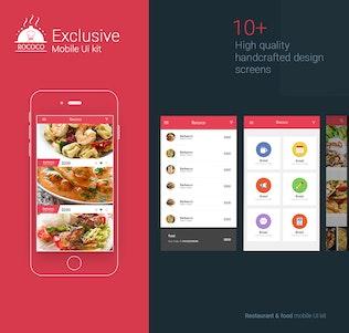 Thumbnail for Restaurant and Food Mobile UI kit