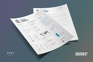 Thumbnail for Infographic Resume/Cv Volume 7