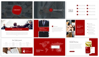 Thumbnail for Libraries - Finance Powerpoint Template