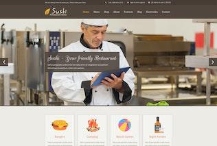 Thumbnail for Sushi | Restaurant PSD / UI Design