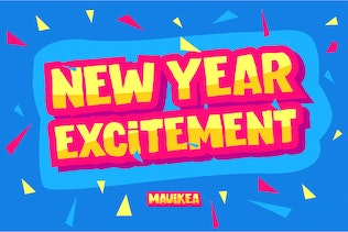 Thumbnail for MAUIKEA - Carefree Bold and Fun Display Font