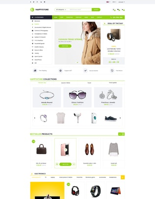 Thumbnail for HappyStore | Multi-Purpose Ecommerce PSD