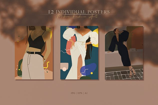 Abstract Woman Portrait Posters - product preview 6