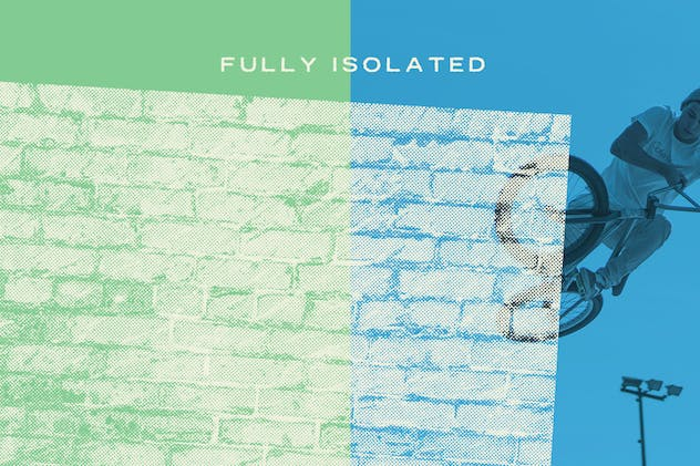 Halftone Brick & Stone Wall Textures - product preview 3