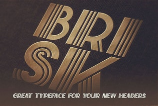 Thumbnail for Brisk - ArtDeco Display Font