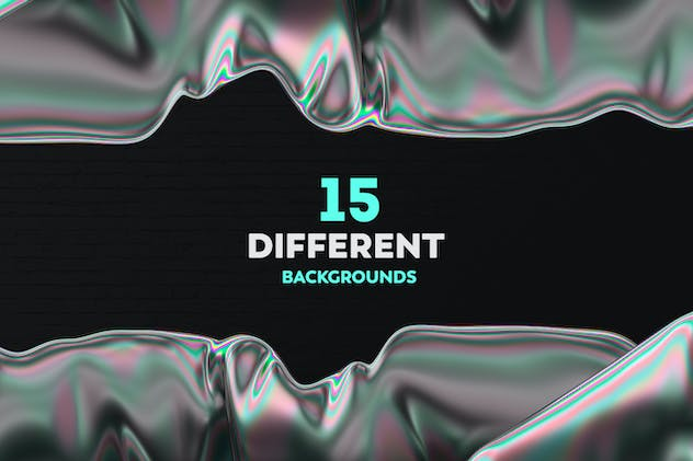 Iridescent Abstract Backgrounds - product preview 6