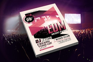 Thumbnail for EDM Music Party Flyer