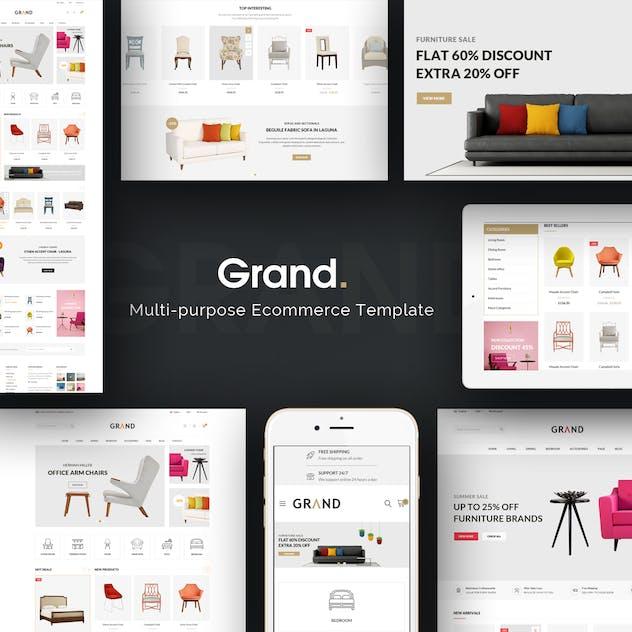 Grand - Responsive Furniture Magento Theme