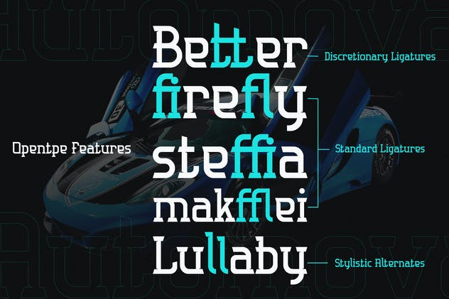 Automova - Sport Font - product preview 8