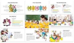 Thumbnail for Puzzle - Education Google Slides Template