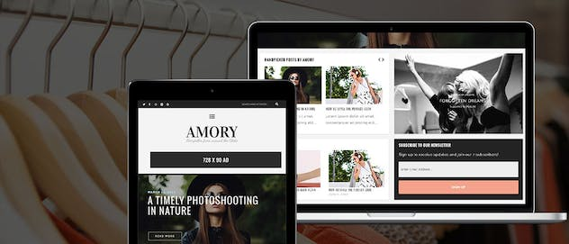 Amory Blog - A Responsive WordPress Blog Theme - product preview 1
