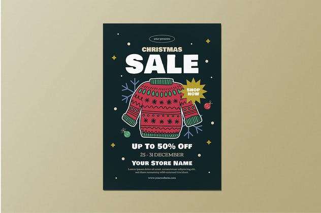 Christmas Sale Flyer Set - product preview 2