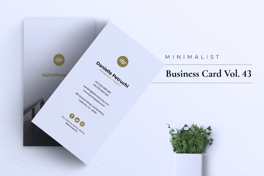Minimalist Business Card Vol. 43 - product preview 3