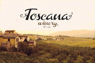 Thumbnail for Toscana Font
