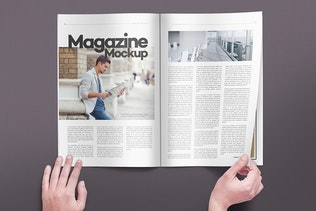 Thumbnail for Magazine Pages Mockups