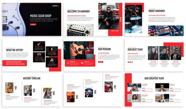 Harmony - Music Keynote Template - product preview 2