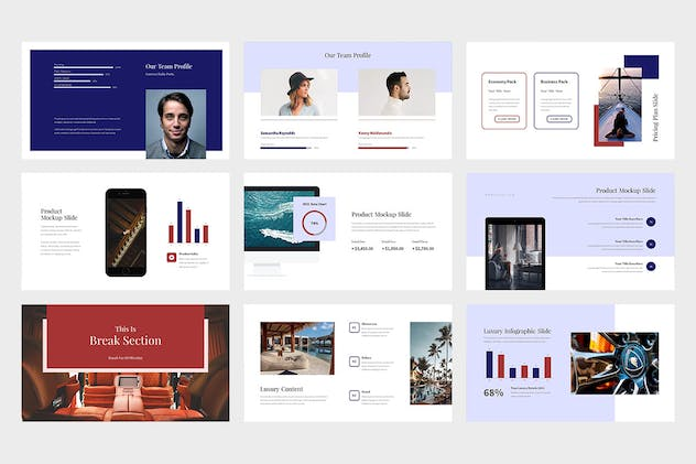 Evoza : Luxury Lifestyle Powerpoint - product preview 6